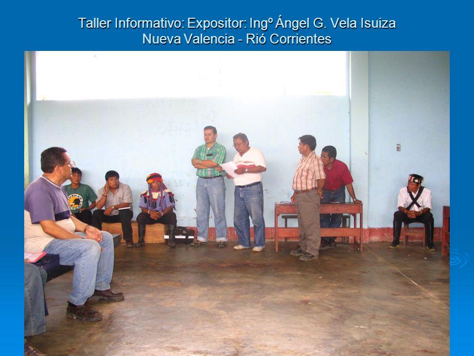 Taller Informativo: Expositor: Ingº Ángel G