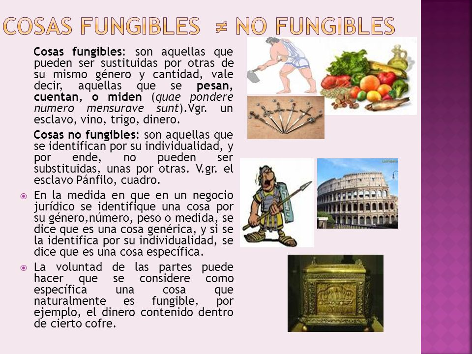 COSAS FUNGIBLES ≠ NO FUNGIBLES