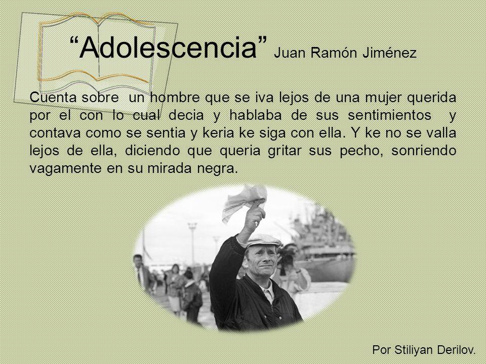 Adolescencia Juan Ramón Jiménez