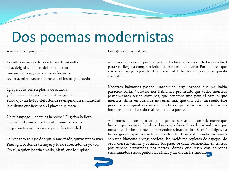 Dos poemas modernistas
