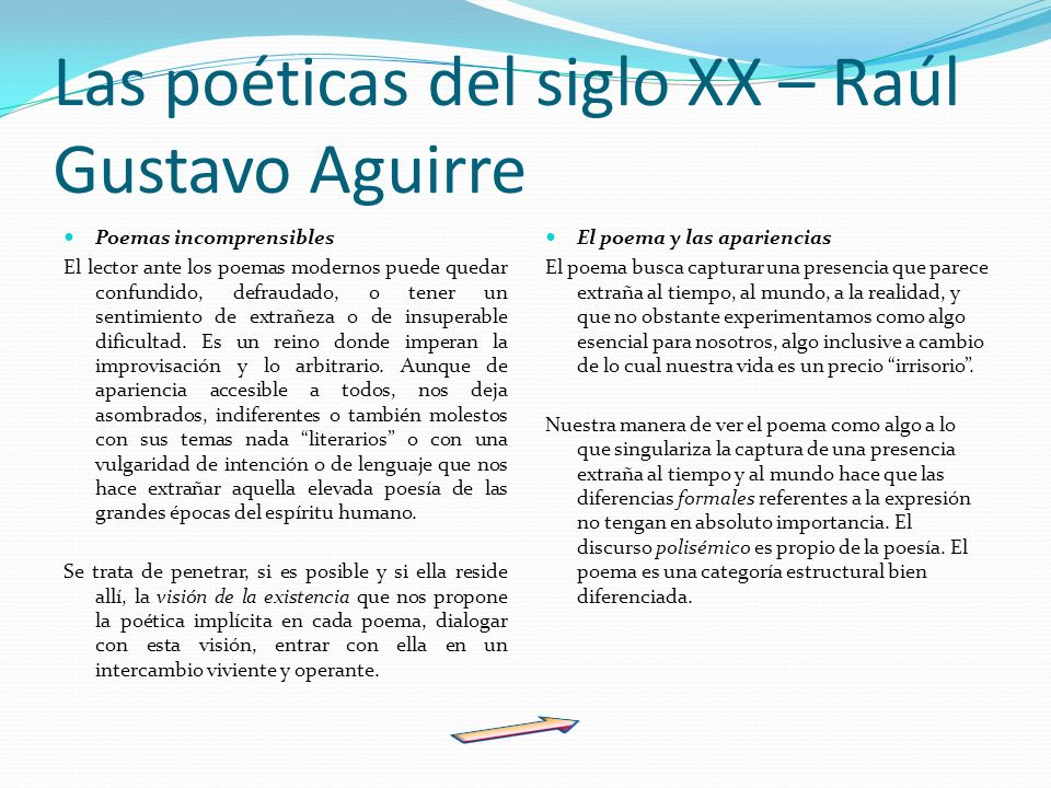 Las poéticas del siglo XX – Raúl Gustavo Aguirre