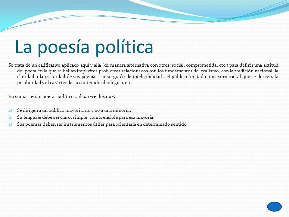 La poesía política