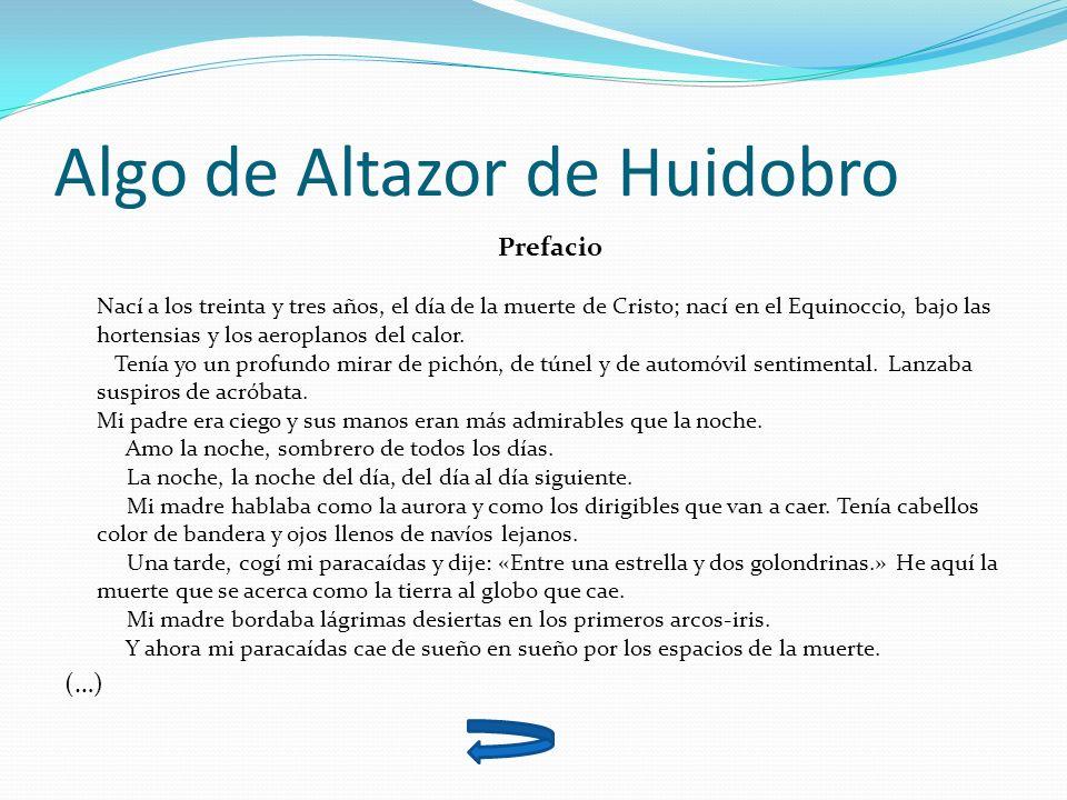 Algo de Altazor de Huidobro