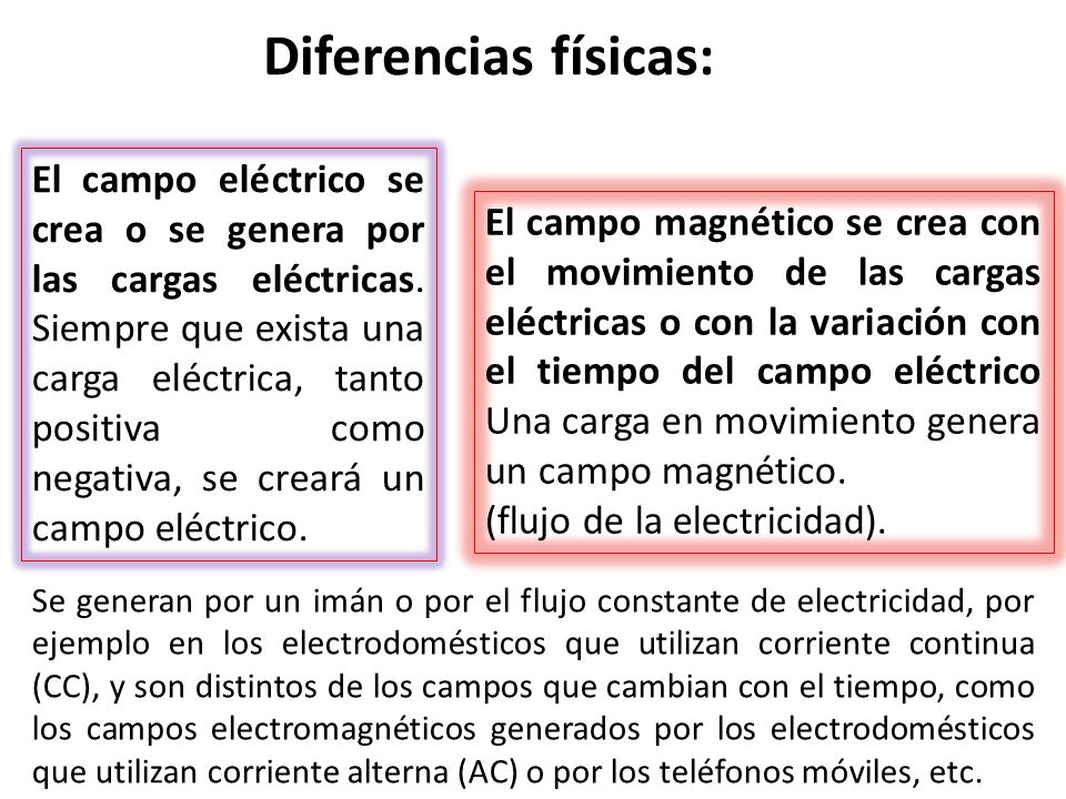 Diferencias físicas: