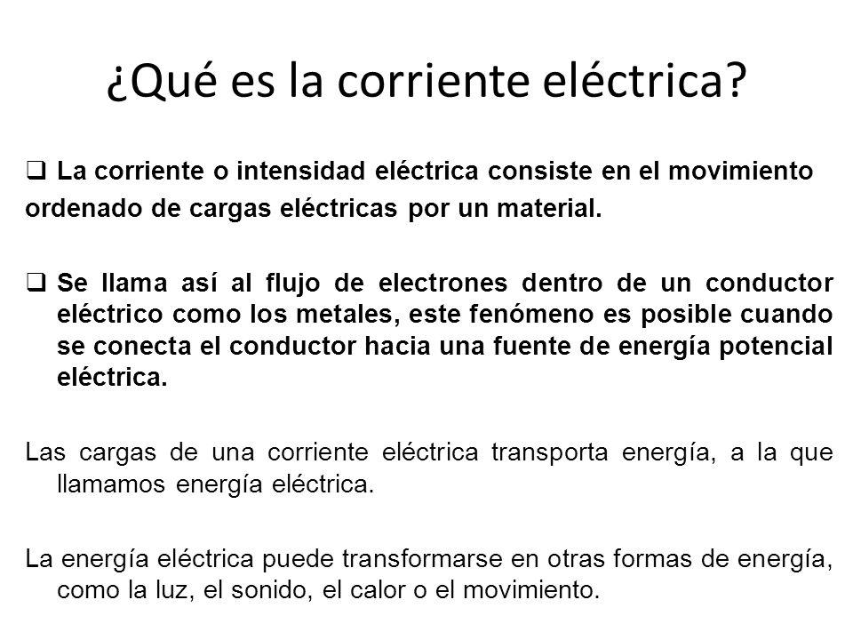 ¿Qué es la corriente eléctrica