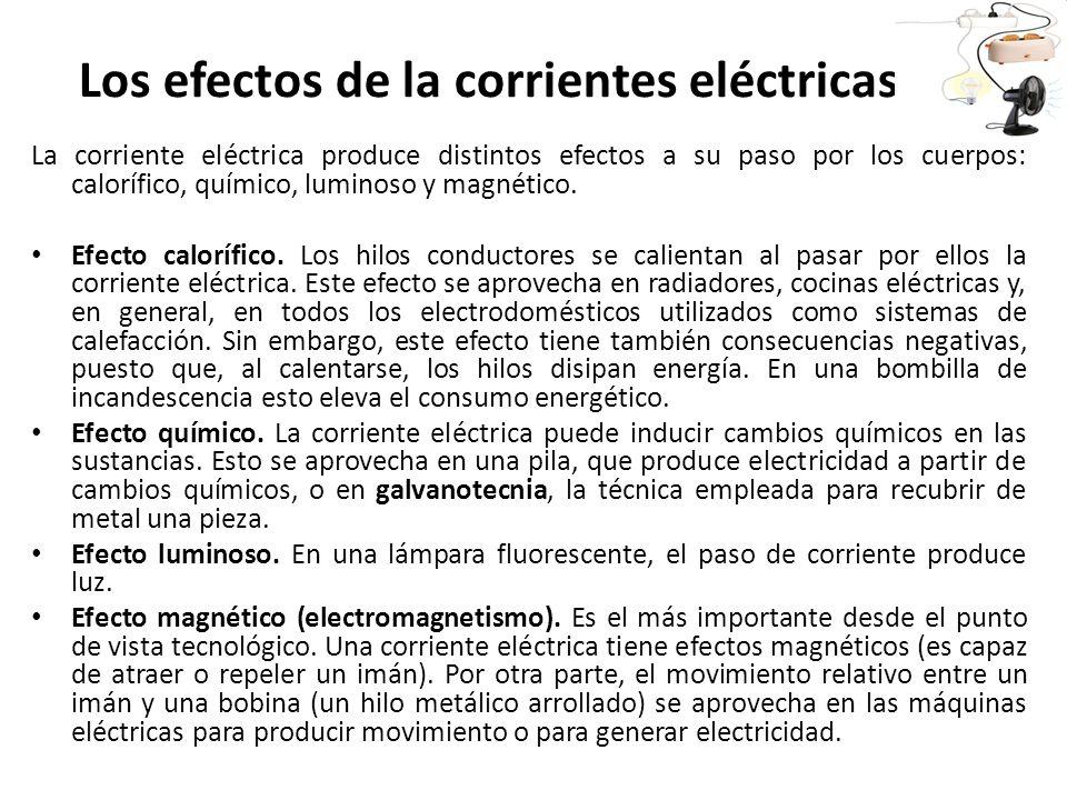 Los efectos de la corrientes eléctricas