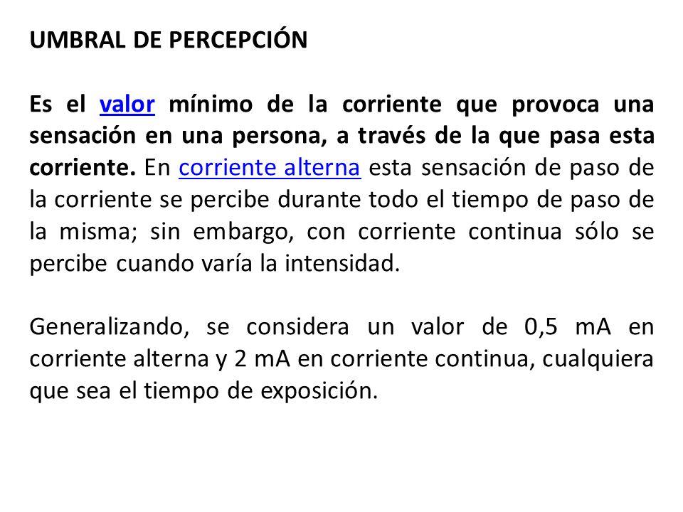 UMBRAL DE PERCEPCIÓN