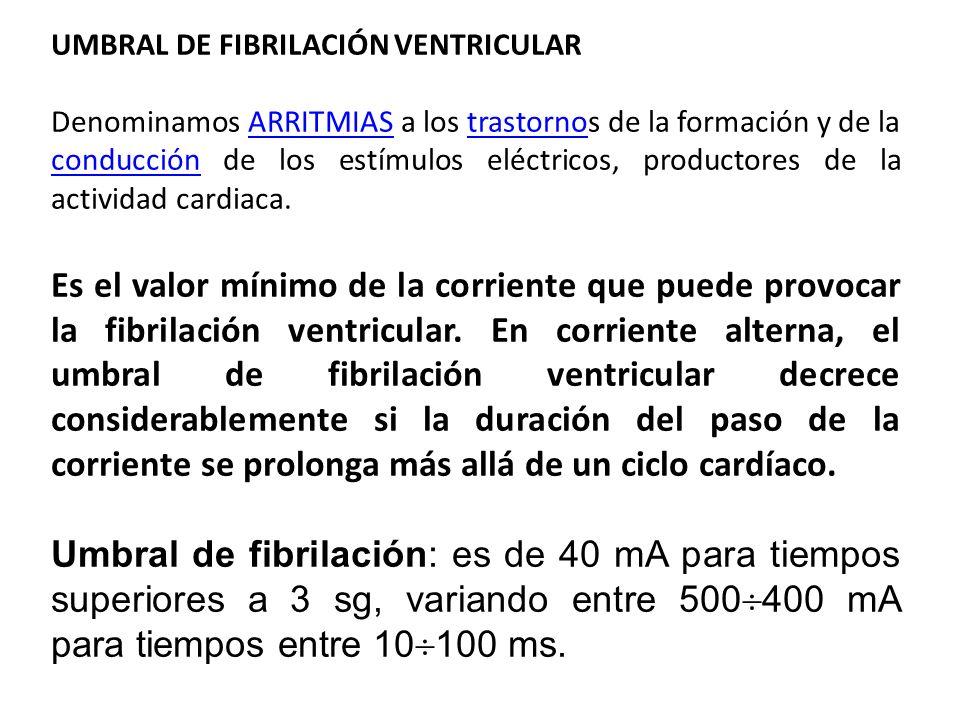 UMBRAL DE FIBRILACIÓN VENTRICULAR