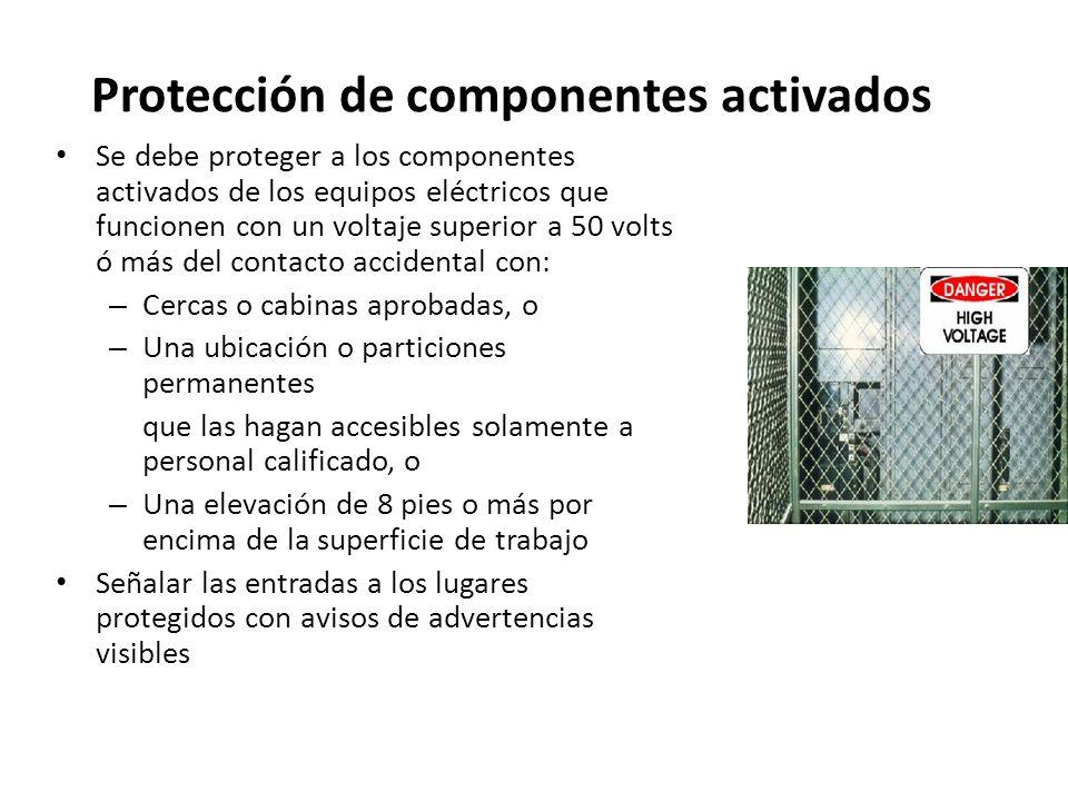 Protección de componentes activados