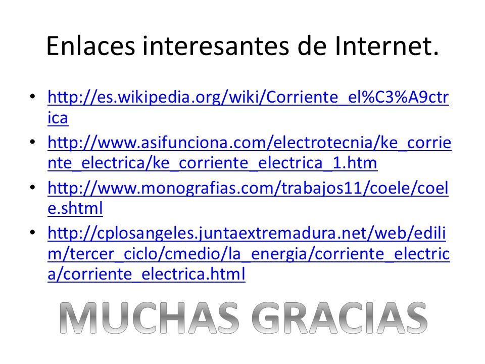 Enlaces interesantes de Internet.