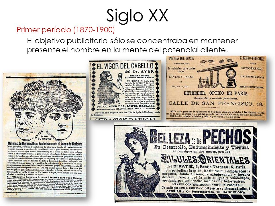 Siglo XX Primer período (1870-1900)