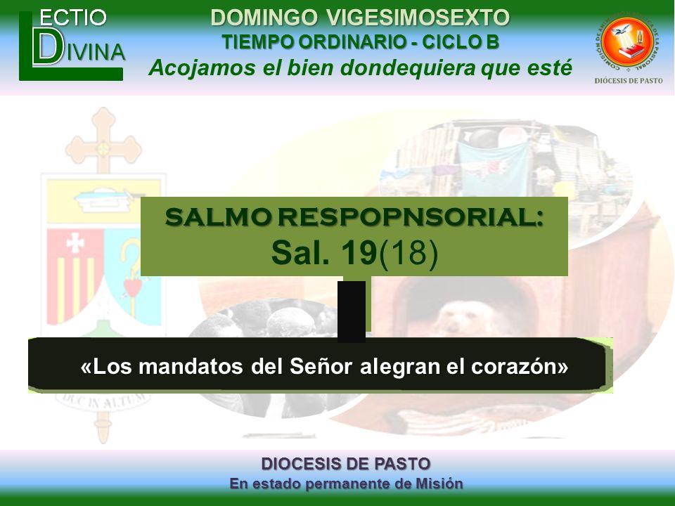 Sal. 19(18) SALMO RESPOPNSORIAL: