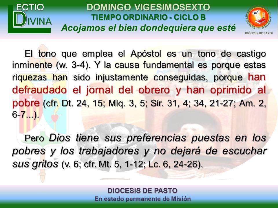 El tono que emplea el Apóstol es un tono de castigo inminente (w. 3-4)