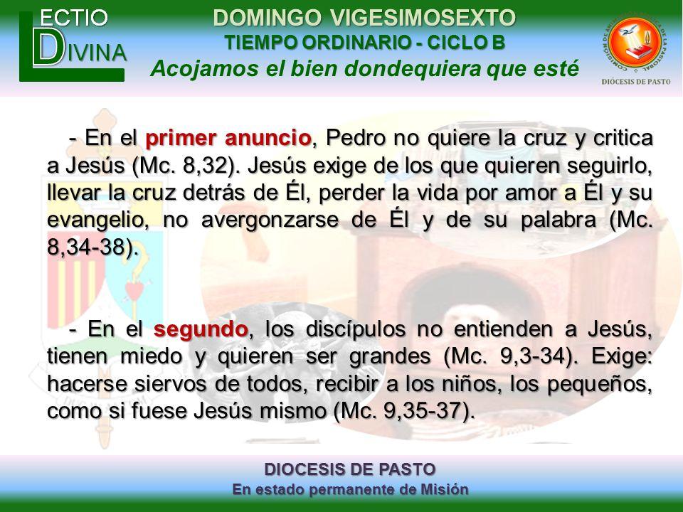 - En el primer anuncio, Pedro no quiere la cruz y critica a Jesús (Mc