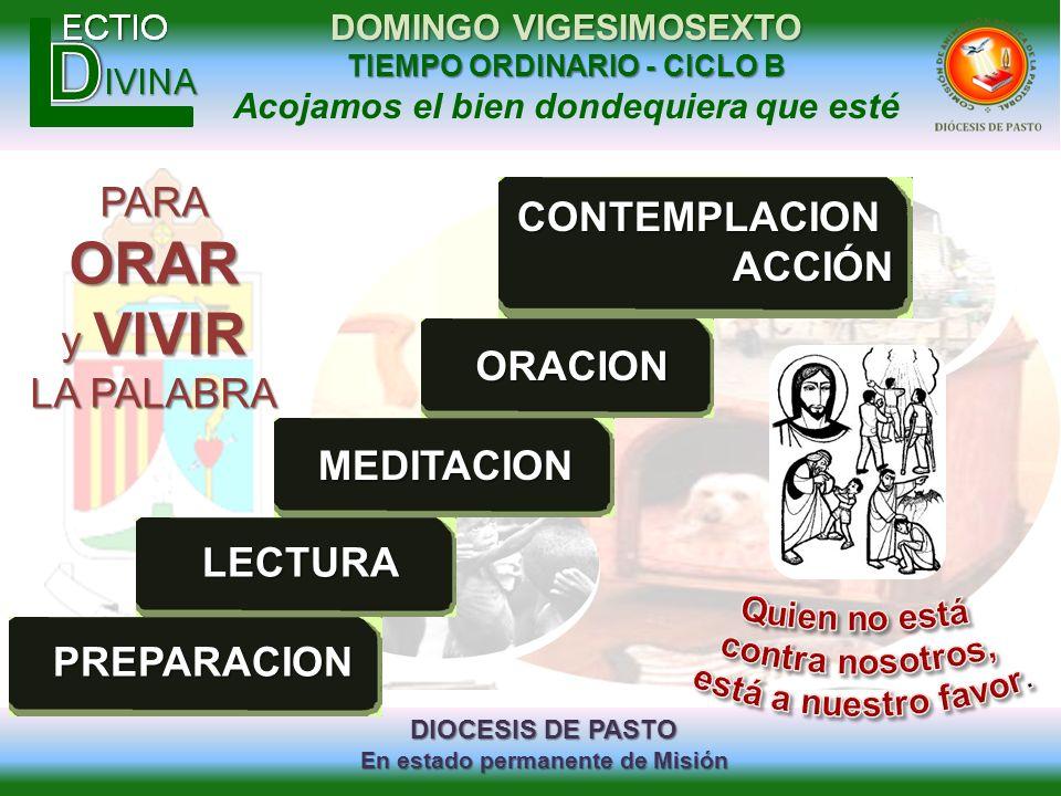 ORAR PARA CONTEMPLACION ACCIÓN y VIVIR LA PALABRA ORACION MEDITACION