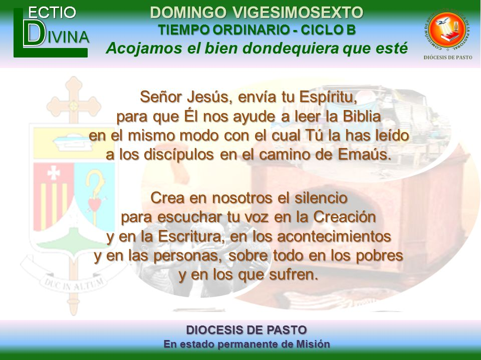 Señor Jesús, envía tu Espíritu, para que Él nos ayude a leer la Biblia