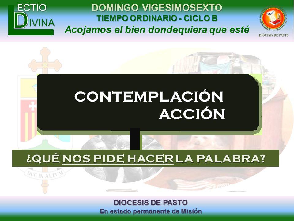 ¿QUÉ NOS PIDE HACER LA PALABRA
