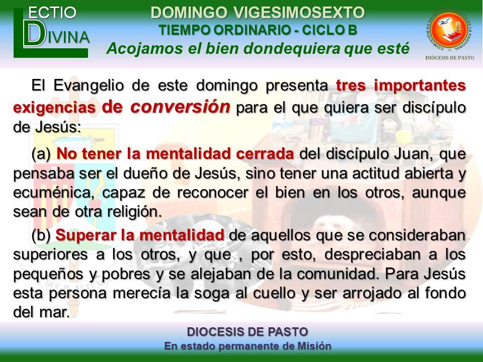 El Evangelio de este domingo presenta tres importantes exigencias de conversión para el que quiera ser discípulo de Jesús: