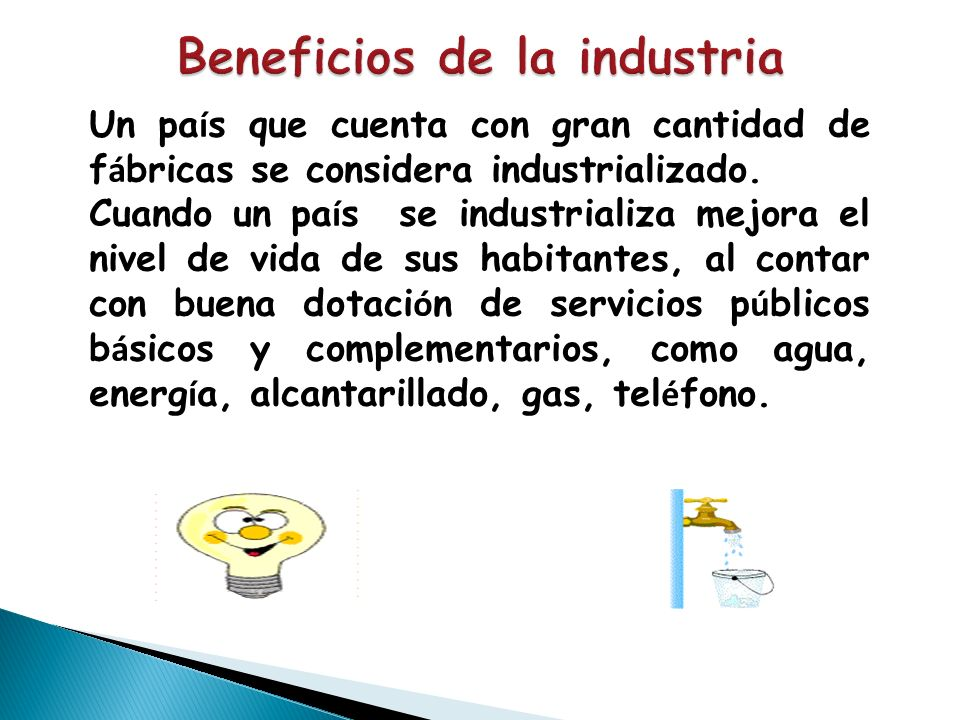 Beneficios de la industria