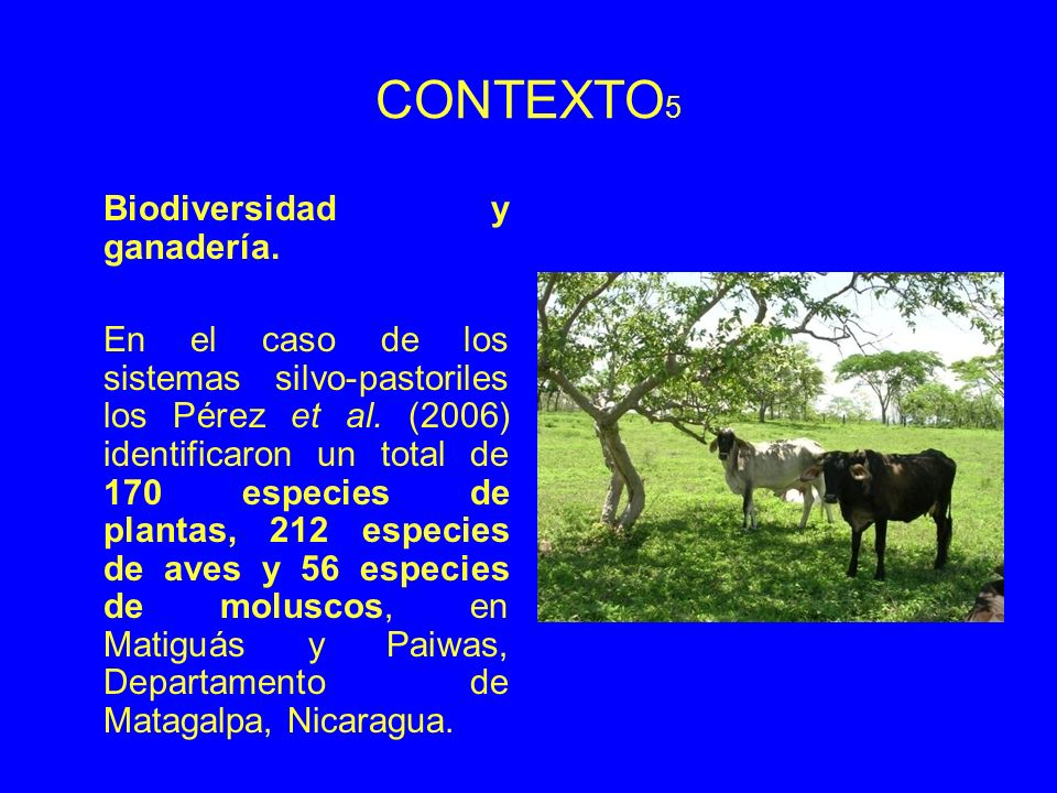CONTEXTO5 Biodiversidad y ganadería.