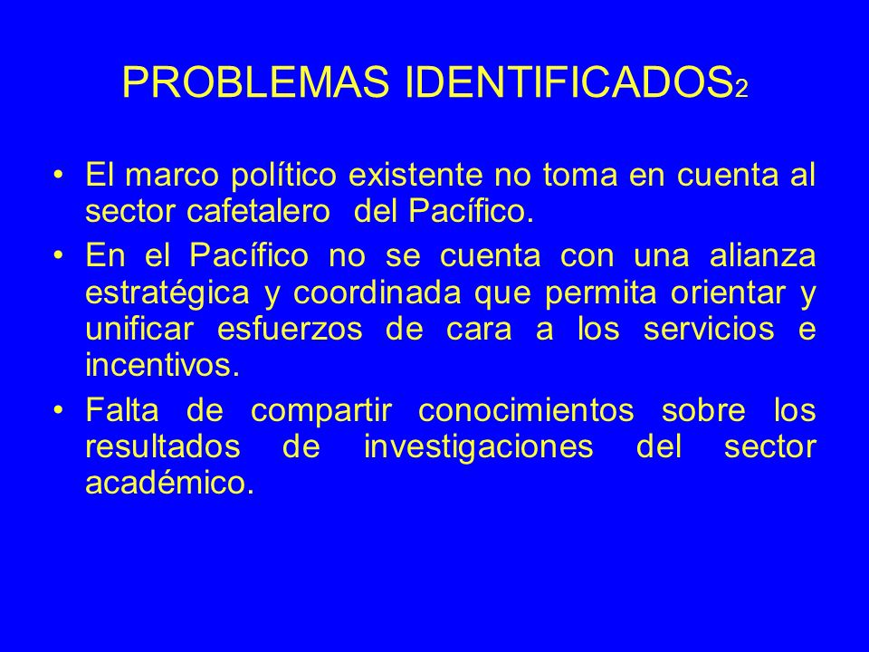 PROBLEMAS IDENTIFICADOS2