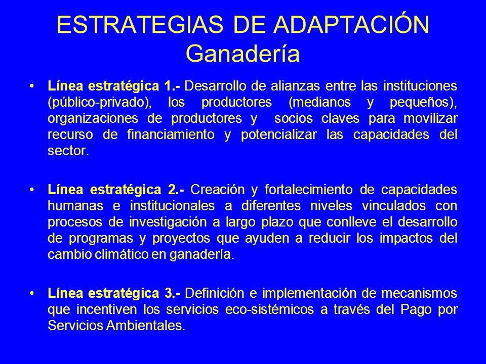 ESTRATEGIAS DE ADAPTACIÓN Ganadería