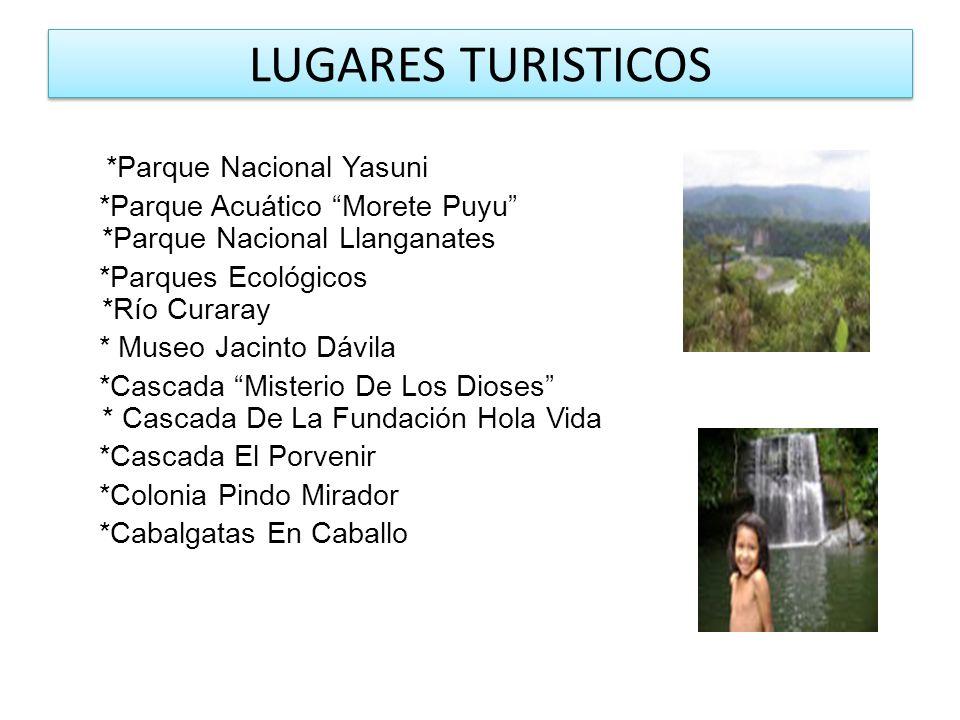 LUGARES TURISTICOS *Parque Nacional Yasuni