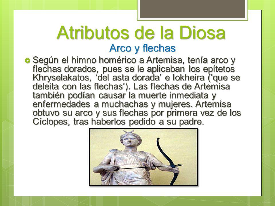 Atributos de la Diosa Arco y flechas.