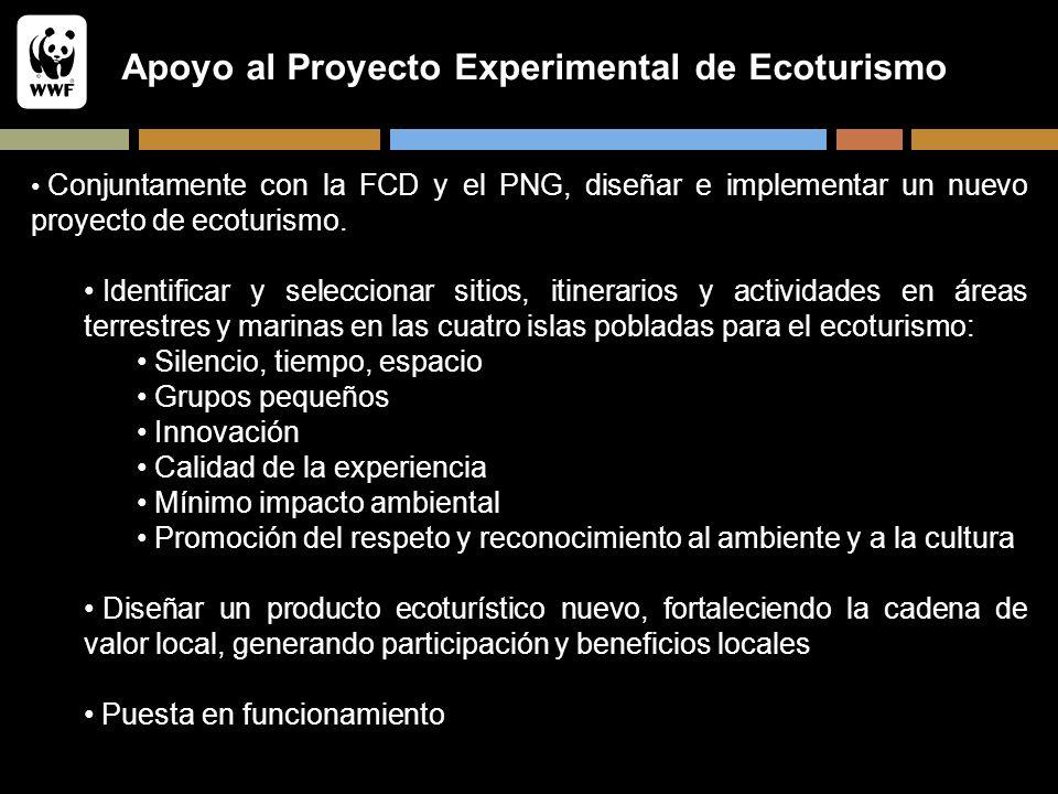 Apoyo al Proyecto Experimental de Ecoturismo