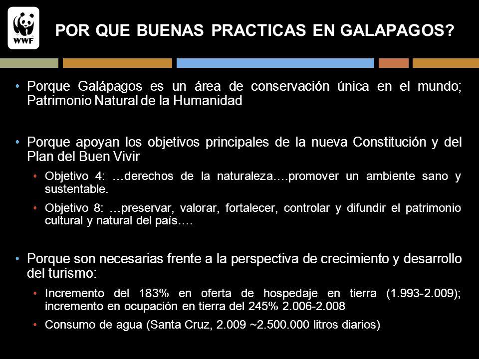POR QUE BUENAS PRACTICAS EN GALAPAGOS