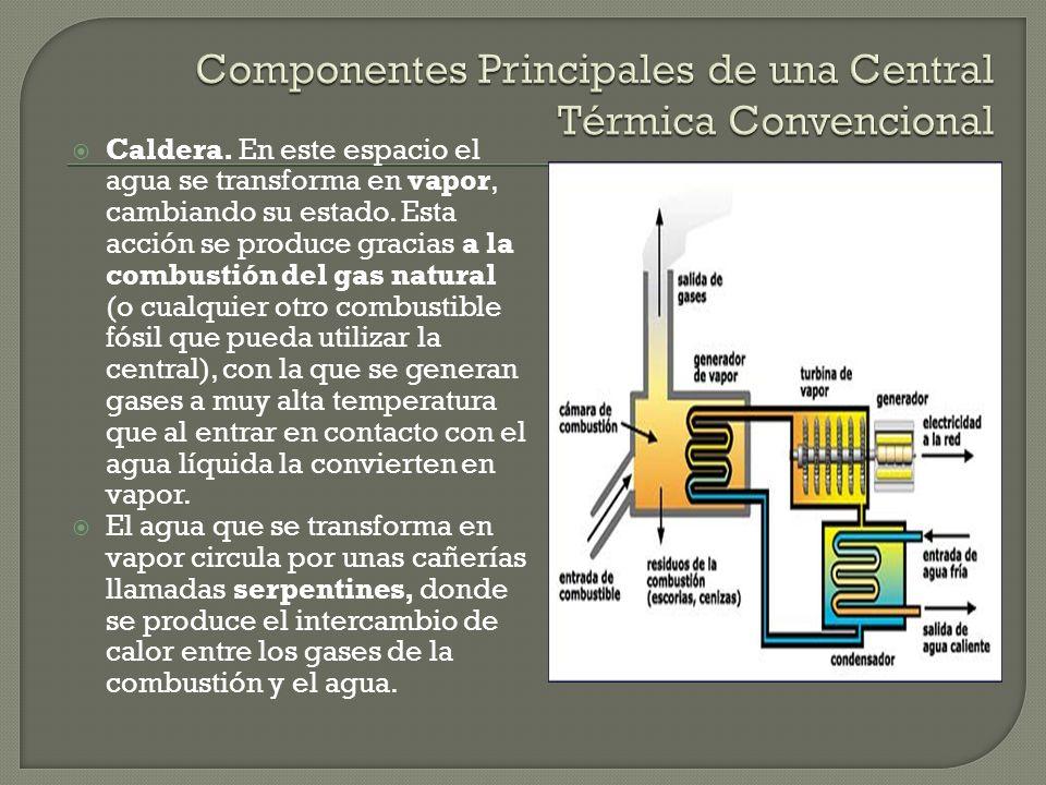 Componentes Principales de una Central Térmica Convencional