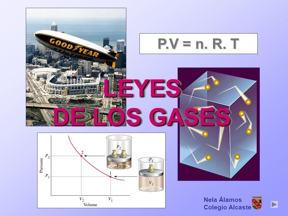 P.V = n. R. T LEYES DE LOS GASES Nela Álamos Colegio Alcaste