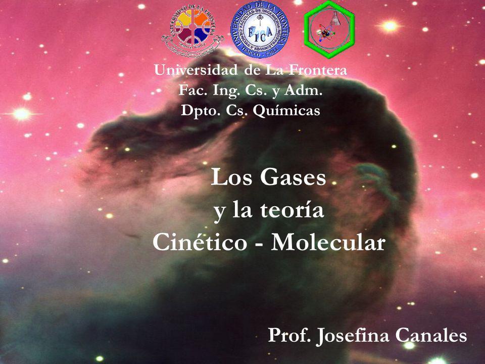 Universidad de La Frontera Fac. Ing. Cs. y Adm. Dpto. Cs. Químicas