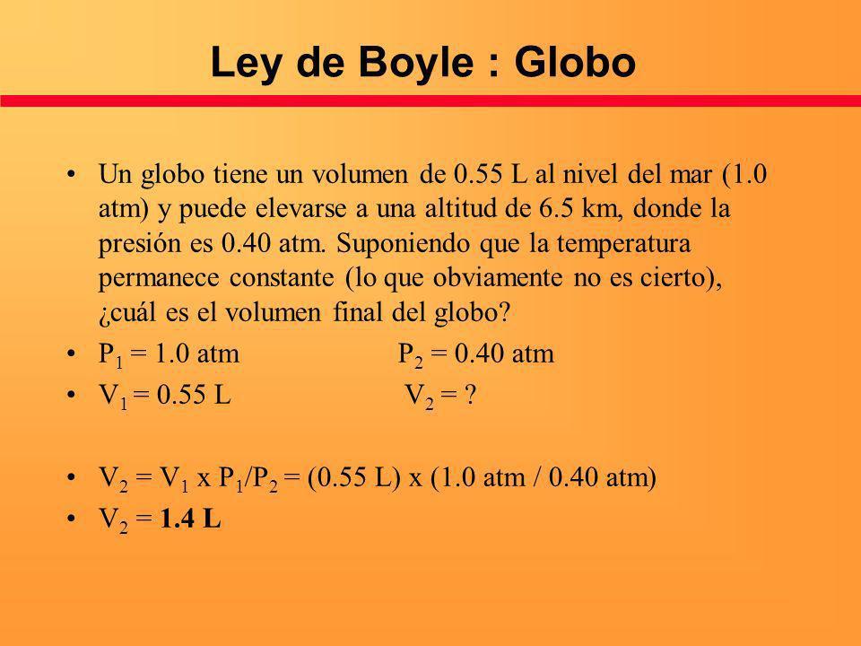 Ley de Boyle : Globo