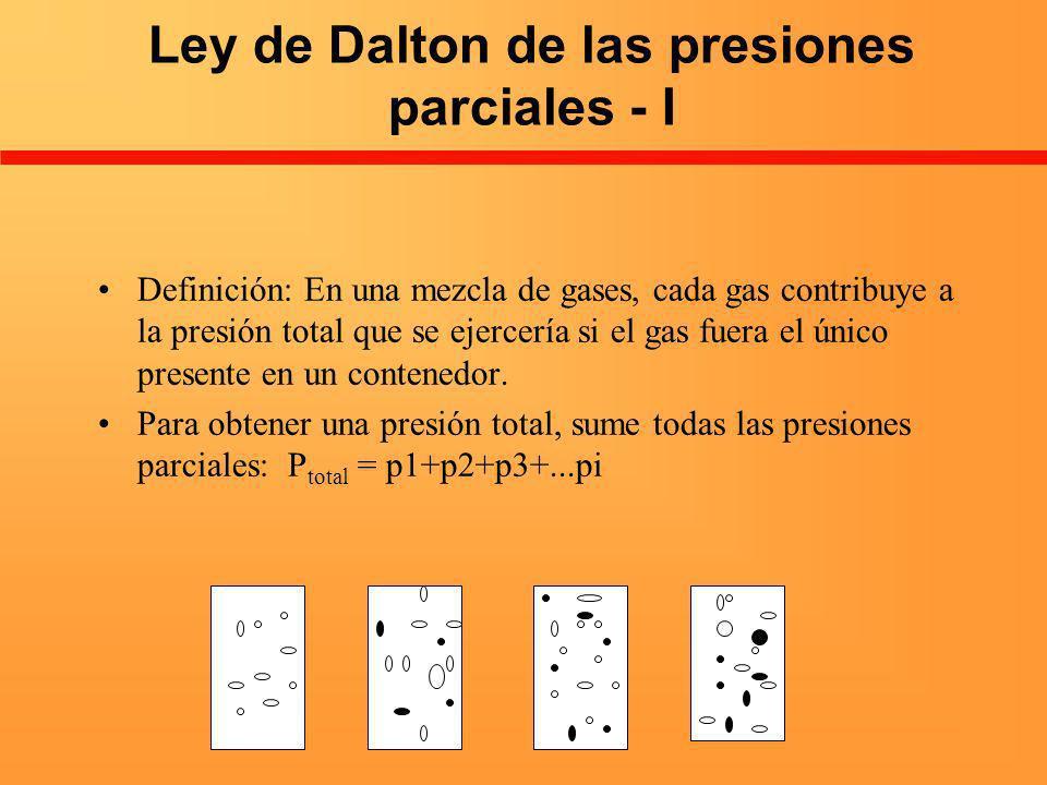 Ley de Dalton de las presiones parciales - I