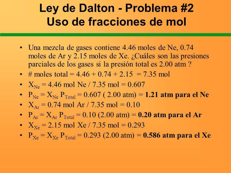 Ley de Dalton - Problema #2 Uso de fracciones de mol