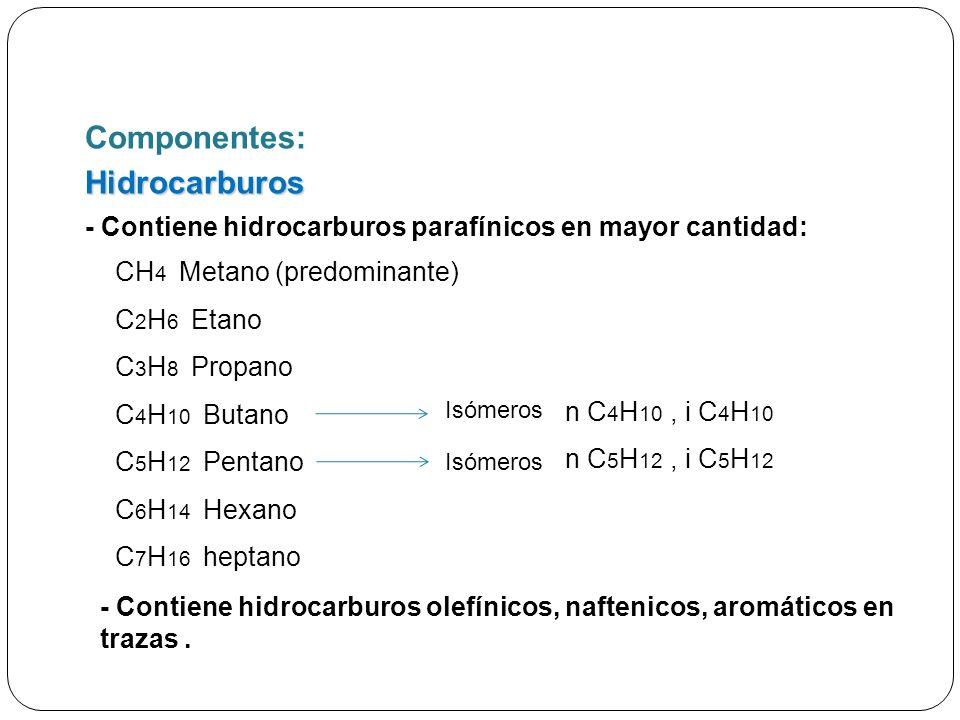 Componentes: Hidrocarburos