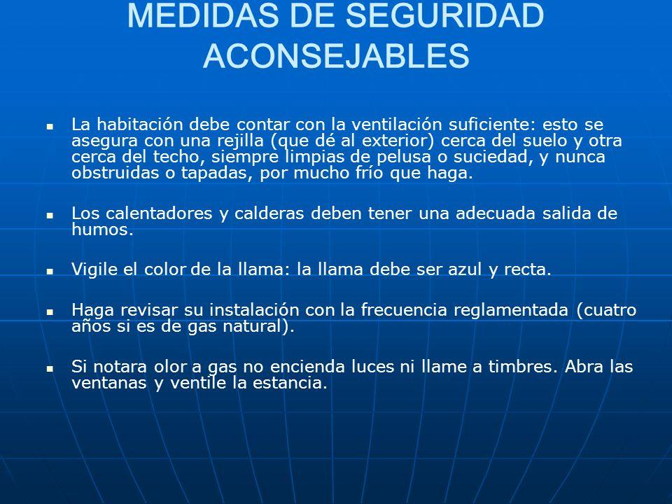 MEDIDAS DE SEGURIDAD ACONSEJABLES