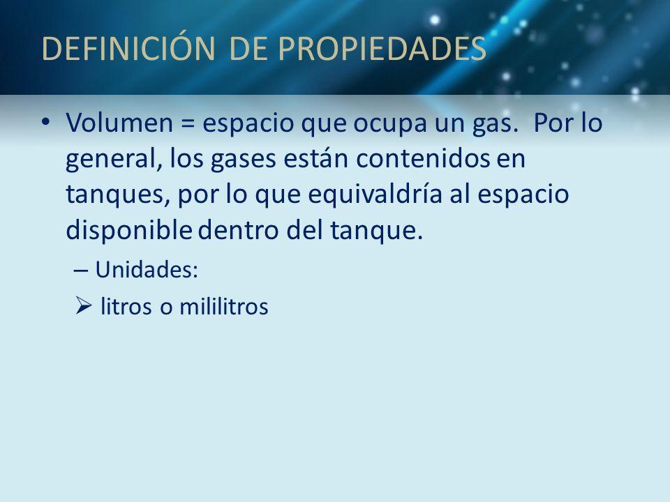DEFINICIÓN DE PROPIEDADES