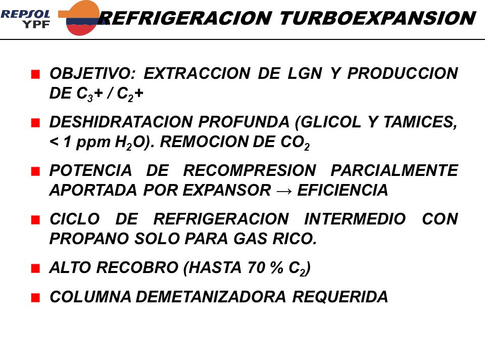 REFRIGERACION TURBOEXPANSION
