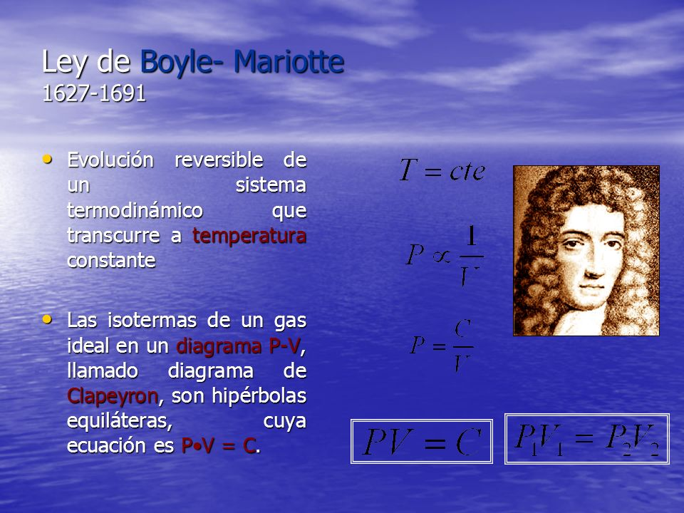 Ley de Boyle- Mariotte 1627-1691