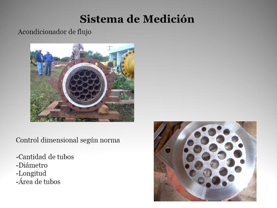 Sistema de Medición Acondicionador de flujo