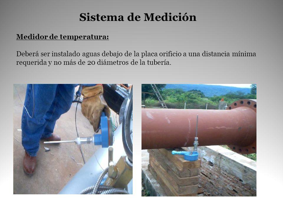 Sistema de Medición Medidor de temperatura: