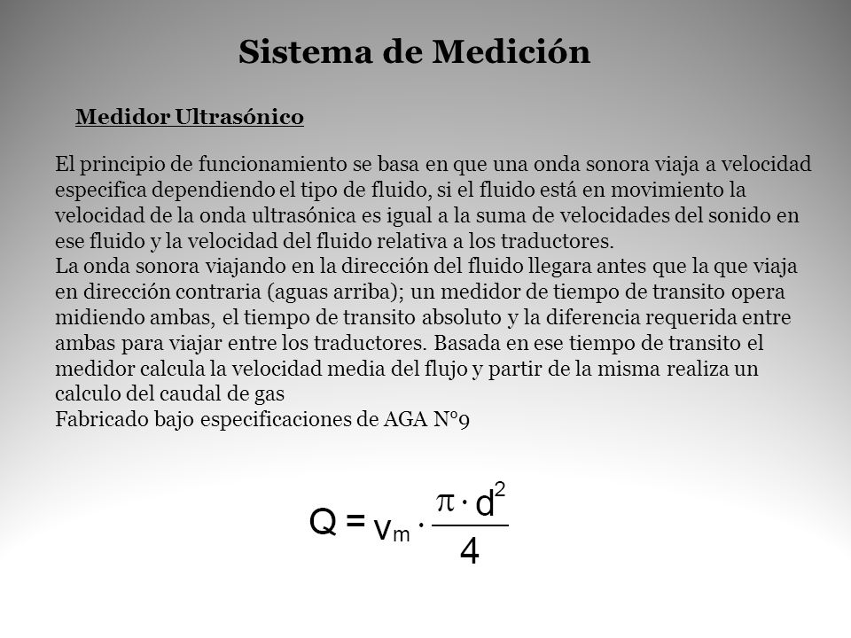 Sistema de Medición Medidor Ultrasónico