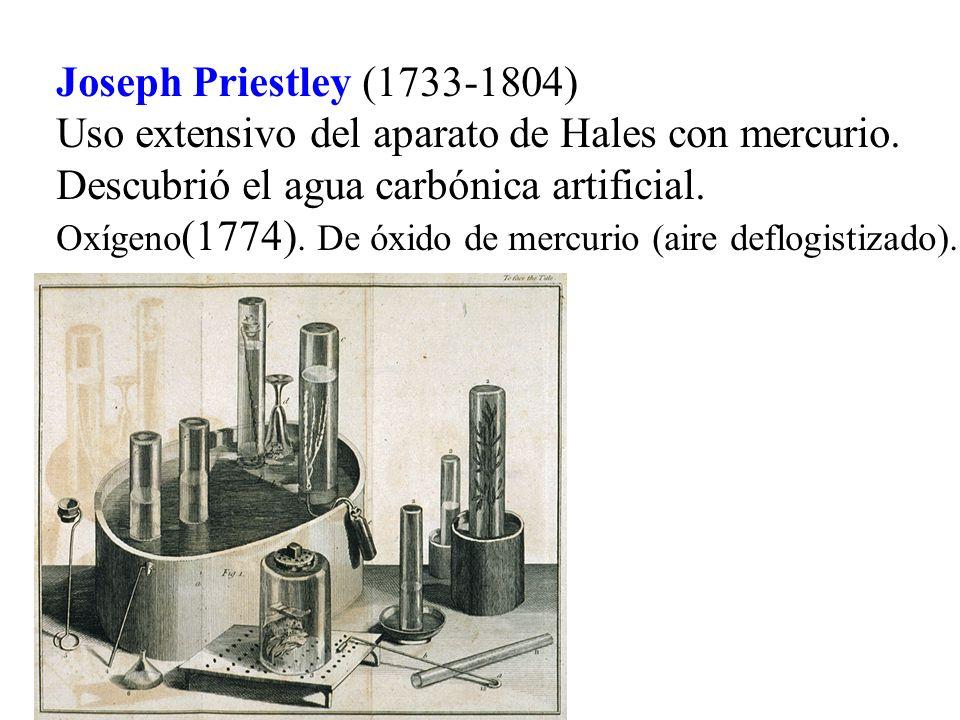 Uso extensivo del aparato de Hales con mercurio.