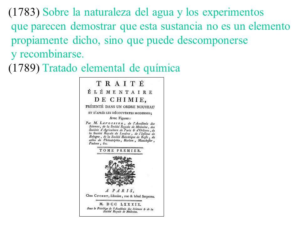 (1783) Sobre la naturaleza del agua y los experimentos