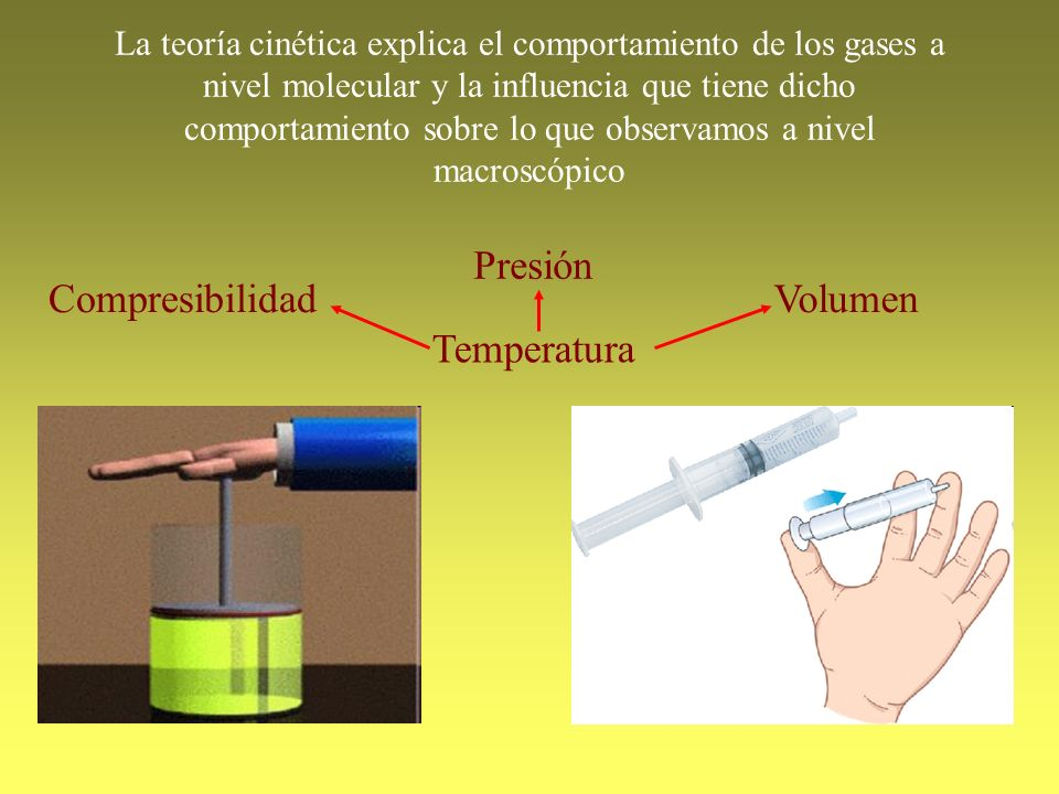 Presión Compresibilidad Volumen Temperatura