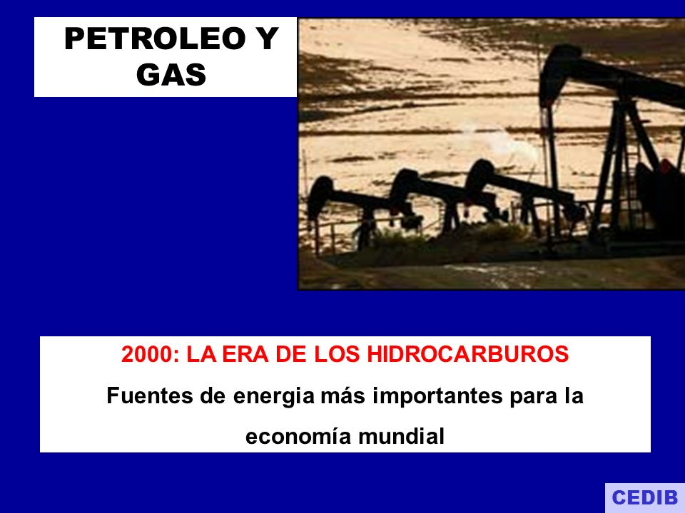 PETROLEO Y GAS 2000: LA ERA DE LOS HIDROCARBUROS