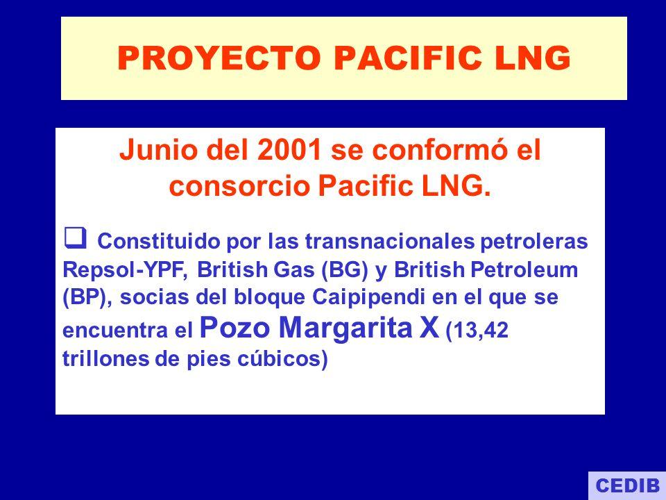 Junio del 2001 se conformó el consorcio Pacific LNG.