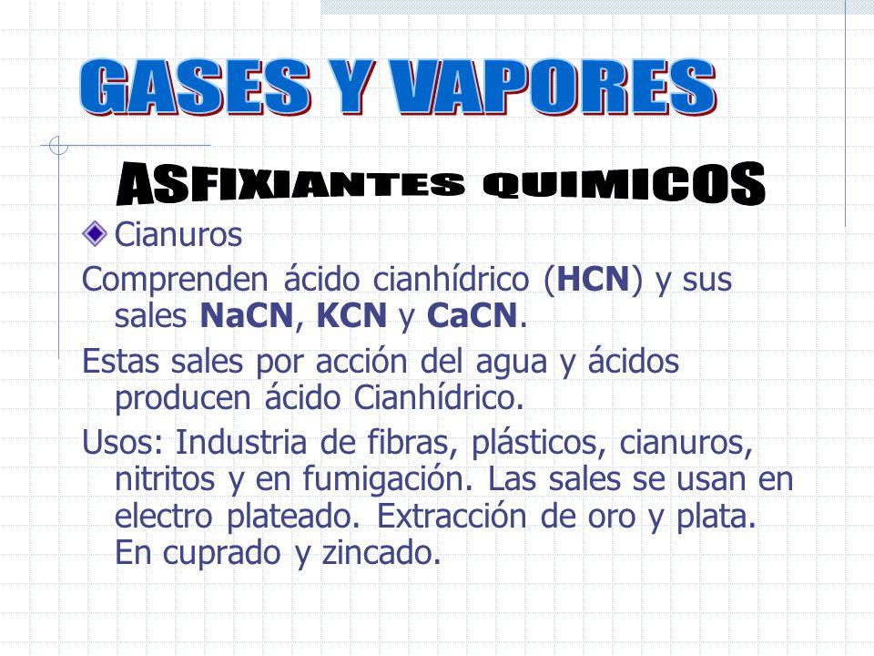 GASES Y VAPORES ASFIXIANTES QUIMICOS Cianuros